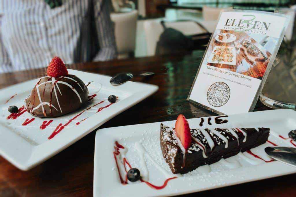 dessert at 3 eleven dallas restaurant