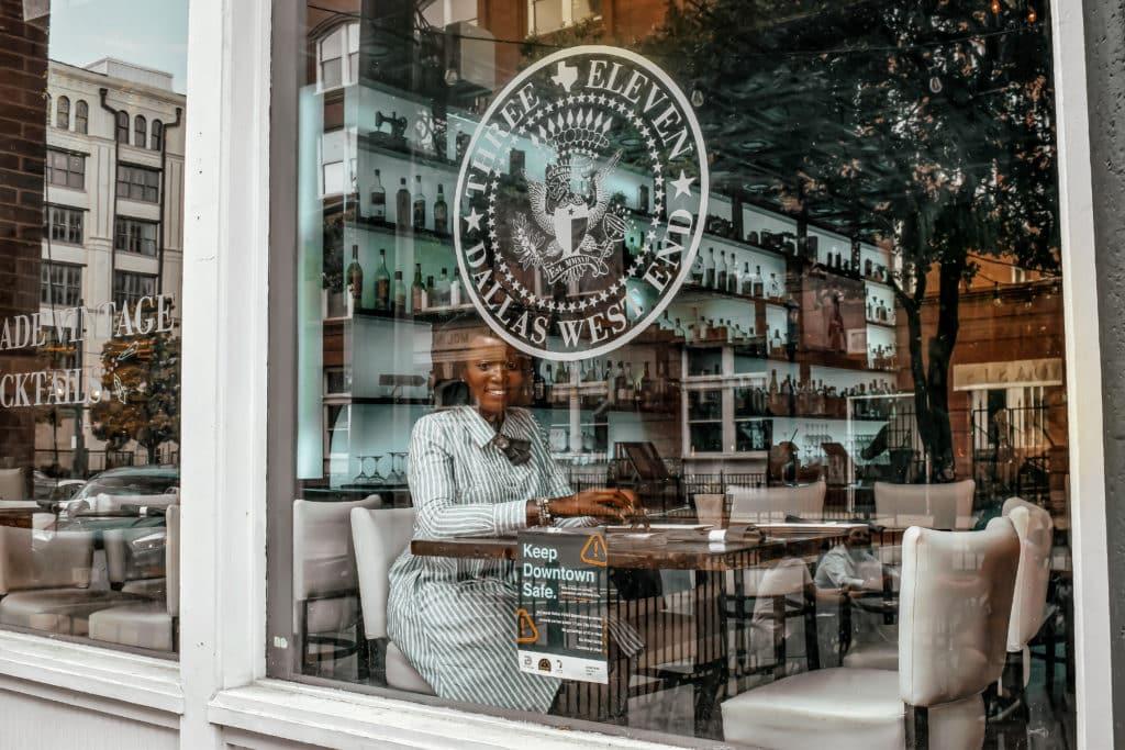 Window of 3Eleven Restaurant Dallas